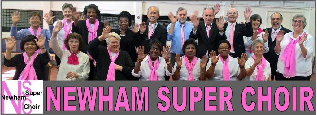 Newham Super Choir. A Happy Bunch.